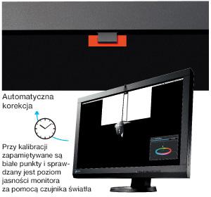ColorEdge CS230 - Wbudowany czujnik do autokorekcji