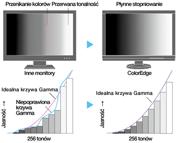ColorEdge CS230 - Krzywa gamma