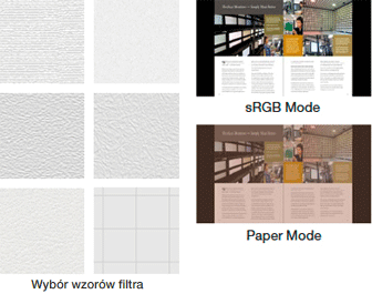 Tryb Paper i filtr EyeCare zmniejszają zmęczenie oczu